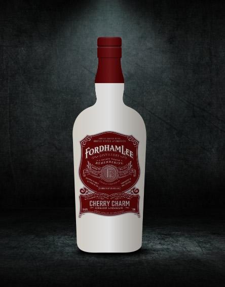 Cherry Charm Cream Liquor Bottle