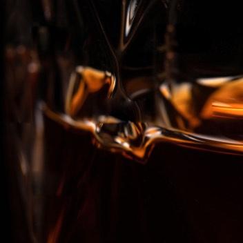 Blurry Whiskey Glass