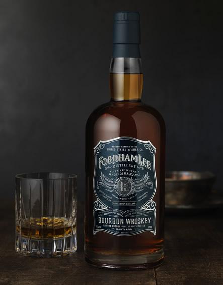 Fordham Lee Bourbon Whiskey Bottle And Glass